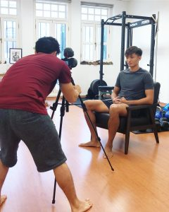 chiropractor, beach volleyball, kingsley tay