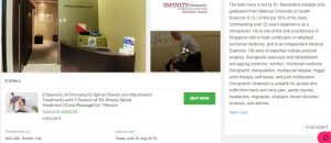 chiropractic clinic, elements wellness, spa infinity, infinity chiropractic