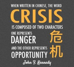 crisis, opportunity, change