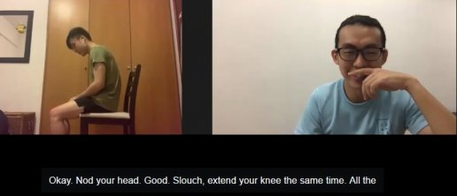 singapore chiropractor, online physiotherapy, telehealth