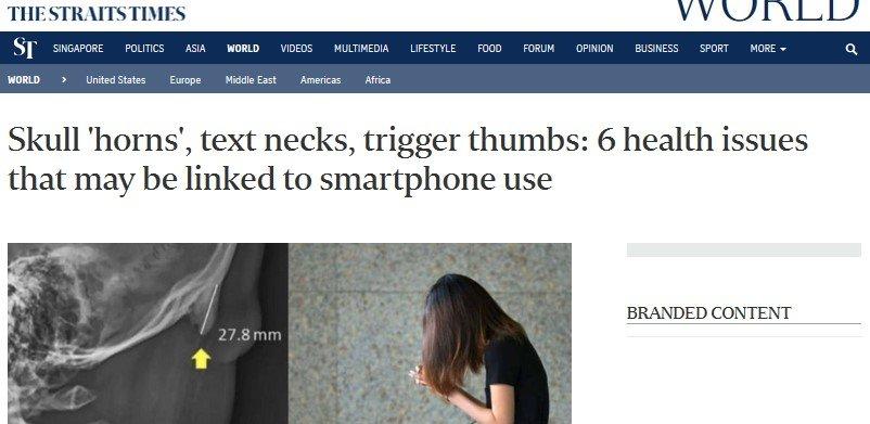 straits times, neck pain, chiropractor singapore