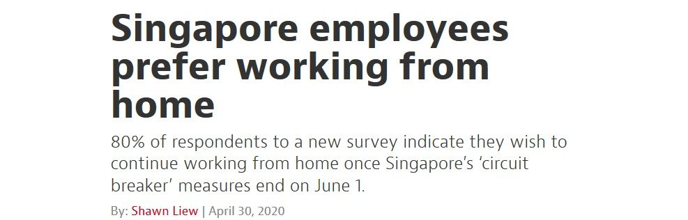 work from home, workplace happiness, wellness singapore