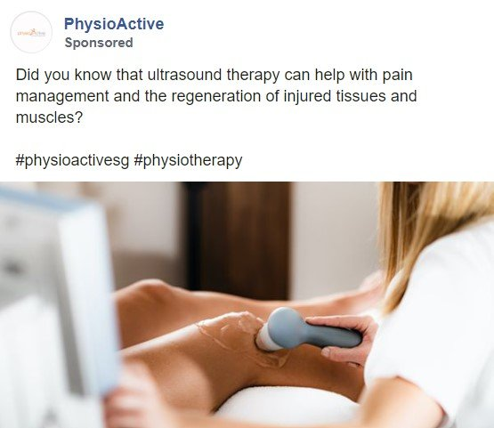 ultrasound therapy, physiotherapy singapore