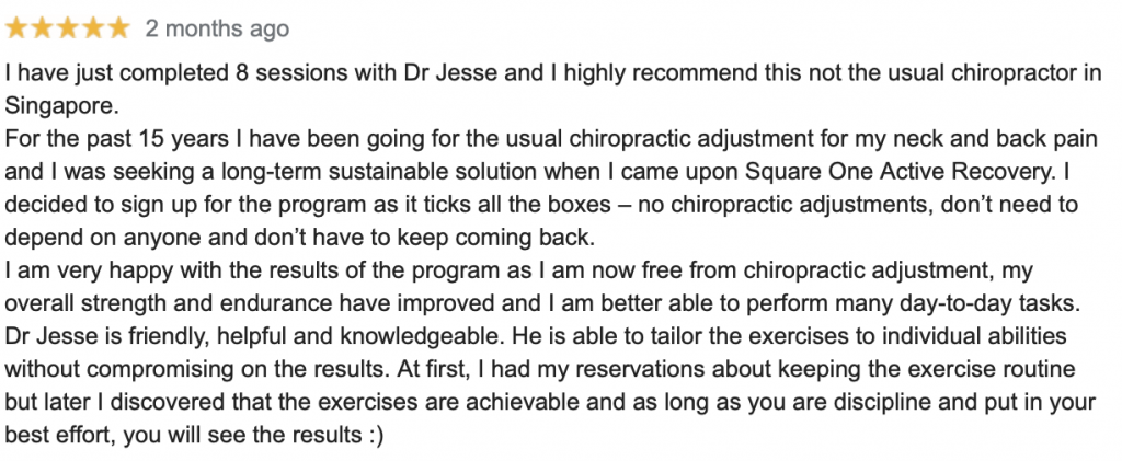 back pain specialist review, chiropractor review